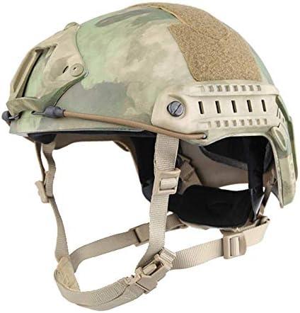 [スポンサー プロダクト]EMERSONGEAR タクティカルヘルメット サバゲー サイドレールとNVGベース 多機能 素早く調節可能 AirSoft彩弾狩猟射撃室外運動用の高速MICH型ヘルメット AT-FG