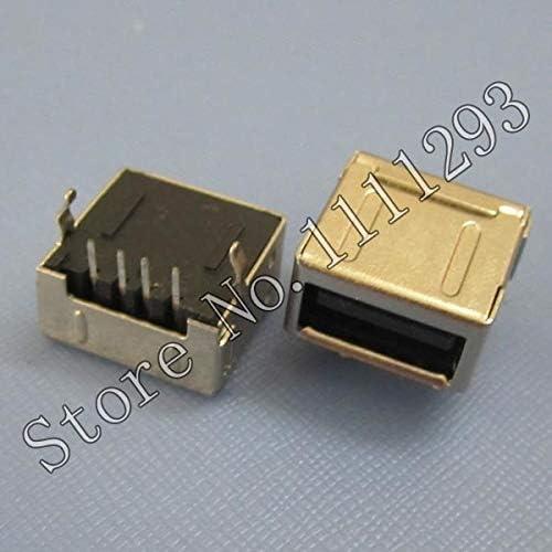 Gimax 20pcs//lot USB JACK Connector for Desktop USB Port Tongue on Up