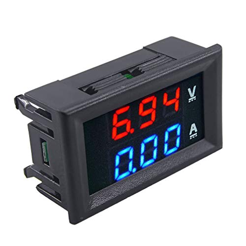 1 PCS 100V 10A DC Dual LED Red and Blue Digital Voltmeter Ammeter Monitor Panel Price & Reviews
