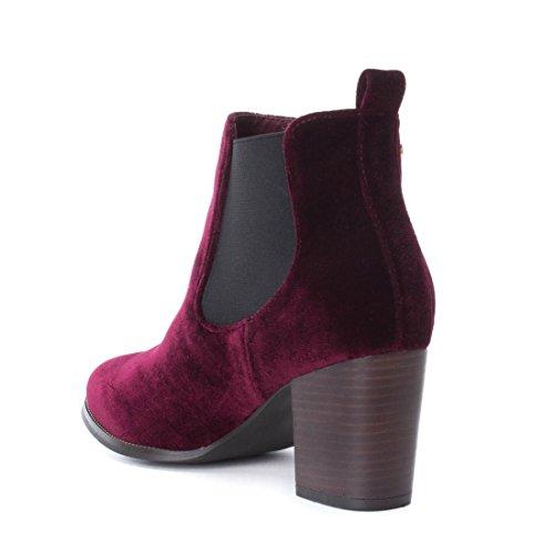 Burdeos Xti De 033703 Textil Mujer Mujer Botín 033703 36 Basics 8qTwr87