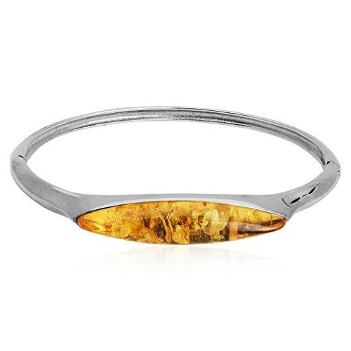 Citron Ambre Bracelet marquise en argent sterling 17cm