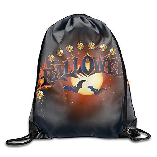 Halloween Poster Drawstring Shoulder Bag Backpack Sackpack For Shopping Sport -
