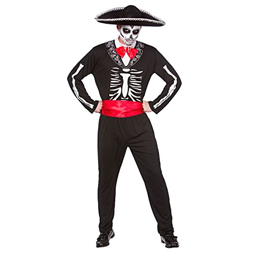 [Mariachi Day Of The Dead - Adult Costume Men : Large] (Dia De Los Muertos Mariachi Costume)