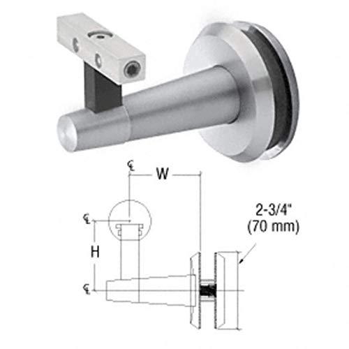 CRL/Blumcraft® Pacific Series Mill Aluminum Glass Mounted Hand Rail Bracket