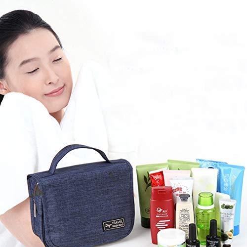 accrochant de de Marine Maquillage à pour Suspendu Toilette Femmes Lavage imperméable Ndier Sac Sac Crochet avec Portable cosmétique et l'eau Hommes Bleu 6w15Y5q