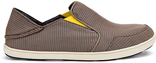 OLUKAI Men's Nohea Mesh Slip-On Shoes, Rock/Canoe, 10