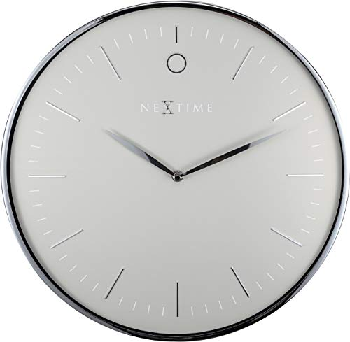 - NEXTIME Unek Goods Glamour Metal Dome Wall Clock | 15.75