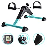B BAIJIAWEI Portable Pedal Exerciser - Under Desk Exercise Machine - Arm & Leg Exercise Peddler - Folding Low Impact Exercise Bike for Seniors and Elderly
