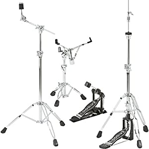 dw dwcp3000pk drumset hardware pack with 3300 snare drum stand 3500 hi hat stand. Black Bedroom Furniture Sets. Home Design Ideas