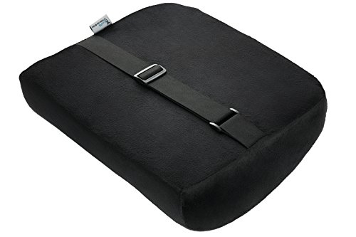 Lumbar Support, LuxFit Premium Deluxe Lumbar Support Cushion High Quality Memory Foam! '2 Year Warranty' - For Home Office Or Car Seat Cushion (Black)