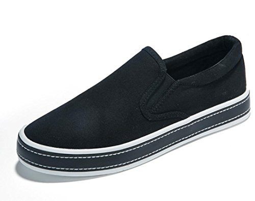 Fondo diarias Lona Ocio Movimiento Zapatos BLACK Plano Estudiantes Cómodo Negro de XIE Escuela 36 Compras de Mujer Zapatos Blanco 37 6xYnnzBq4