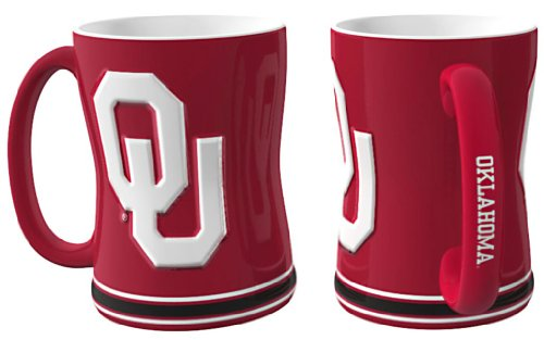 Oklahoma Sooners 15 oz Relief Mug - - Sooners Mall
