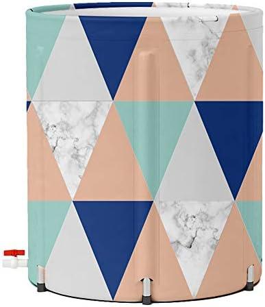 浴槽 菱形は、ポータブル簡単に店65x65cm色折り畳み式のバスタブアダルトBathbarrel肥厚世帯バスタブヒット 大人用家庭用 (Color : Multi-colored, Size : 65x65cm)