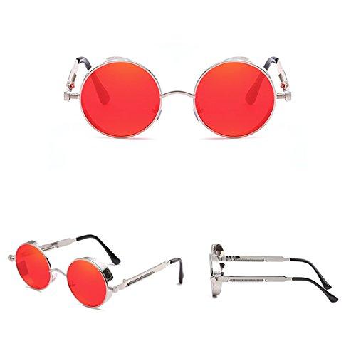 Poitrine Les Care métal Eye Style Zinc Polarized Soleil Lunettes et Protection UV 18 Steampunk la Alloy Contre Rond Cadre de Royalmal en Sunglasses tw461axwq
