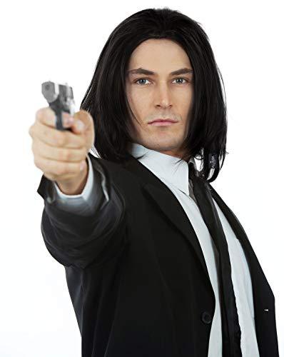 Amazon.com: Vincent Vega Wig Pulp Fiction Costume Black Wigs Men Mia Wallace: Clothing