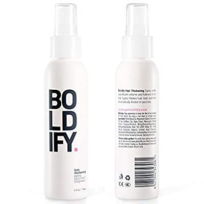 BOLDIFY Hair Thickening Spray - Get Thicker Hair in 60 Seconds