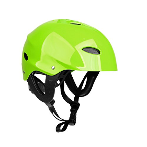MagiDeal CE Certification M/L Green/ Rose Lightweight Adjustable Safety Helmet for Kayaking Canoeing Water Sports Boating Water-skiing