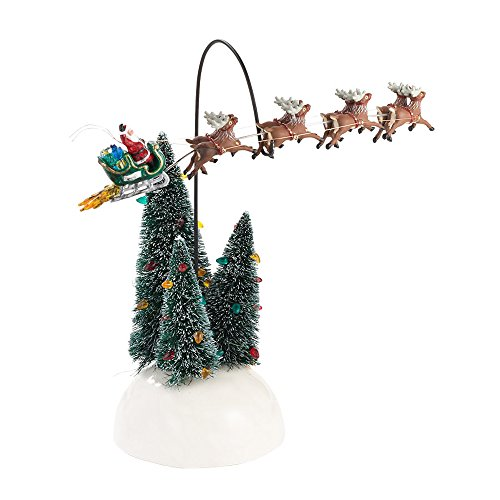 Department 56 National Lampoons Christmas Vacation Village Animated Flaming Sleigh Accessory Figurine ()