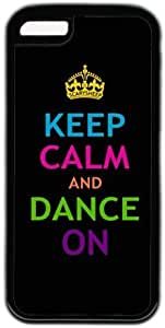 Keep Calm And Dance On Theme Hard Back Cover Case For Iphone 5C