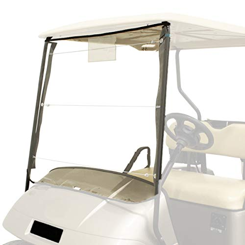 (Buggies Unlimited Universal Roll Up Portable Golf Cart Vinyl Windshield)