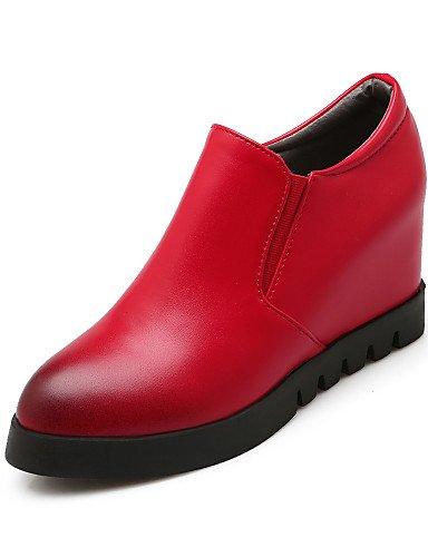 tacones Hug Home mujer di ZQ Textiles semicuero cuña plataforma vestido EU 40 tacón Rosso Scarpe tacones negro pqH14