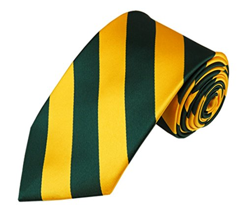 Vincent Apparel Collegiate Stripe Ties (Multiple Colors) (Forest Green and - And Green Store Gold