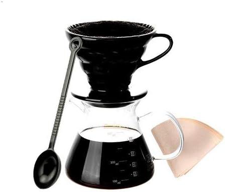 GINVF Verter sobre Cafetera con Filtro Borrar Vidrio borosilicato ...