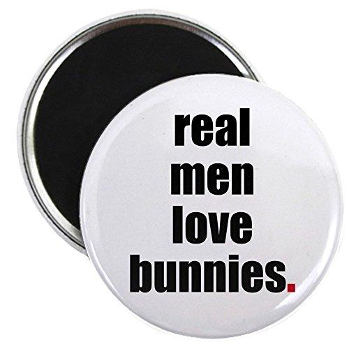 CafePress Real Men Love Bunnies 2.25