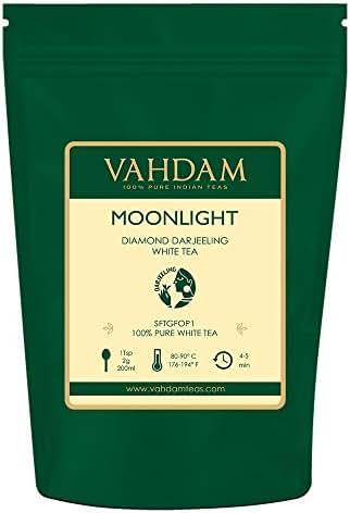 Diamond Moonlight White Tea Leaves from the Himalayas (25 Cups), 100% Natural Detox Tea, Weight Loss Tea - WORLD'S FINEST WHITE TEA LOOSE LEAF, RICH IN ANTI-OXIDANTS, Darjeeling White Tea 1.76oz