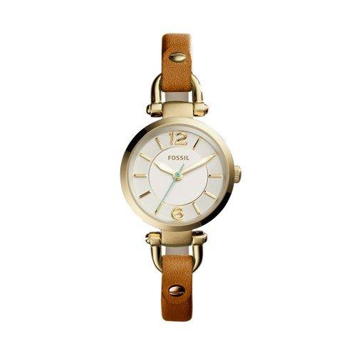 Fossil Women's ES4000 Georgia Mini Dark Brown Leather Watch