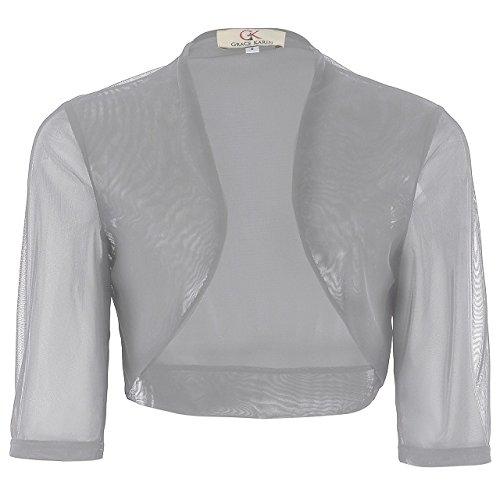 Blue Stones Black Elegant Sleeve Boleros Cropped Shrug Shawl Wedding Accessories Jackets Bridal Wraps Cardigan