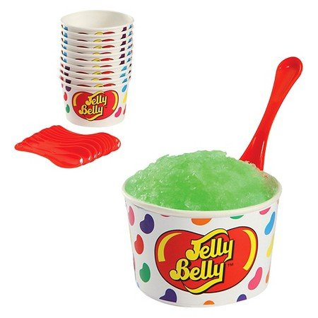 Jelly Belly Snow Treat Cups & Spoons 10ct (Silver Jelly Beans)