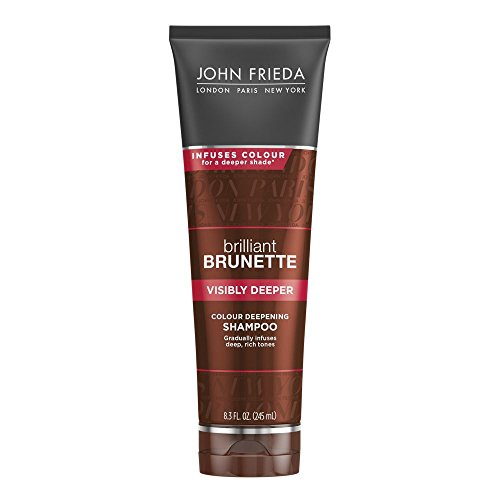 John Frieda Brilliant Brunette Visibly Deeper Colour Deepening Shampoo, 8.3 Ounces