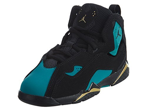 JORDAN TRUE FLIGHT GP girls basketball-shoes 342775-014_12C - BLACK/BLACK-RIO TEAL-METALLIC - Cheap Jordans Womens