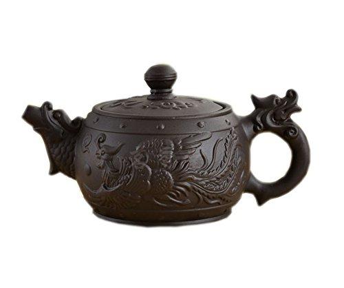 Historic Purple Clay Tea Pot Dragon & Phoneix Tea Kettle