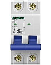 Disjuntor Bipolar Curva C, Alumbra, ALBR 3 39343, Branco