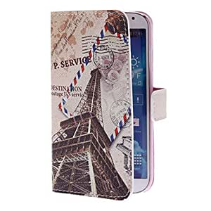 LZX Vintage Tower Pattern Full Body Case with Stand and Card Slot for Samsung Galaxy S4 I9500