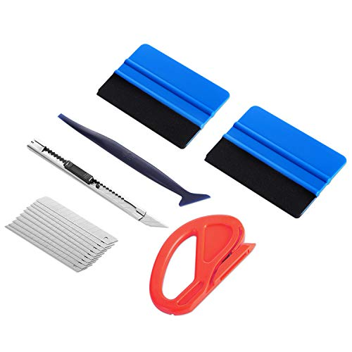GISSVOGEEK Car Vinyl Wrap Tool Kit Car Window Tint for Cars with Vinyl Squeegee Car Wrap Vinyl Window Tint Kit 6PCS in 1 Vinyl Wrap for Cars Window Tint Tools