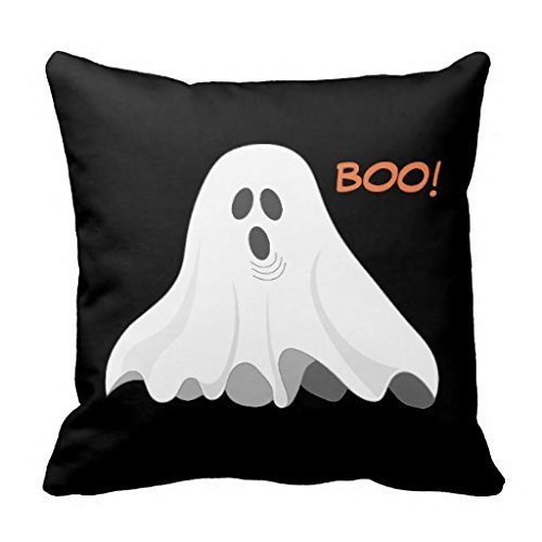 Boo Halloween Ghost Accent Pillow Case Design-Case A square