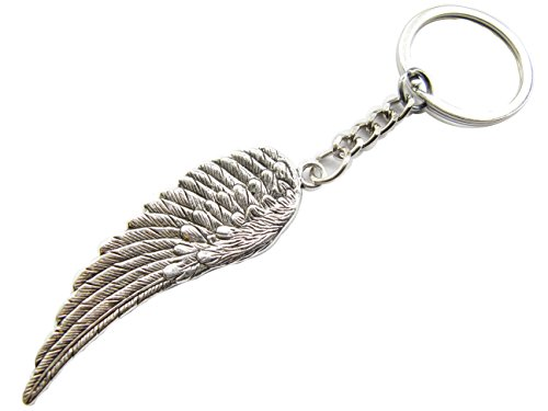 Ancient Silver Wing Keychain, Angel Wing Keyring, Guardian Angel Wing ,Wing Jewelry. (Angel Wings Keychain)