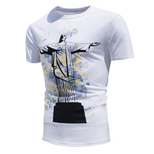 Cool Begegnung Sun Change Color T-Shirt Für Herren, Amlaiworld Kurzarm T-Shirt Bluse (XXL, Weiß)