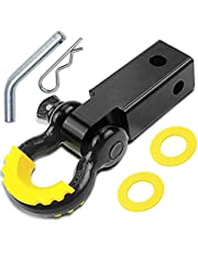 """Shackle Hitch Receiver 2 inch 41918 Lb Break Strength Black Powder Coat Heavy Duty Shackle Hitch Comes with 3/4"""" Shackle & Hitch Pin Reliable Shackle Receiver Best for Truck,SUV and Vehicle Recovery"""