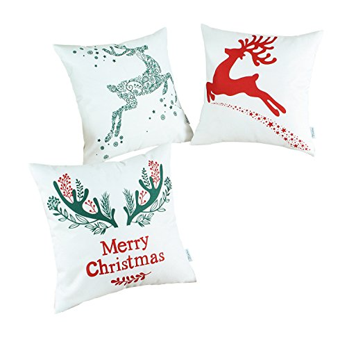 CaliTime Pillow Christmas Holiday Reindeer product image