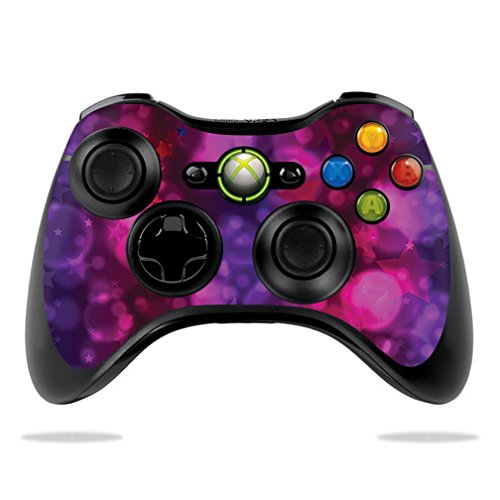 MightySkins Skin Compatible with Microsoft Xbox 360 Controller - Star Power   Protective, Durable, and Unique Vinyl Decal wrap Cover   Easy to Apply, Remove, and Change Styles   Made in The USA (Xbox 360 Pink Controller Skin)