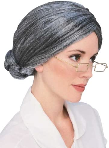 Grey One Size Rubies Costume Old Lady Wig