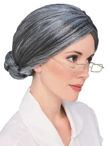 Old Lady Hair Costume (Rubie's Costume Old Lady Wig, Grey, One Size)