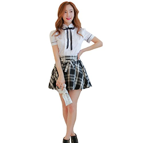 Lifeye Japanese Korean Students' Uniforms England College School Uniforms Short-Sleeved Suit (School Korean Uniform)