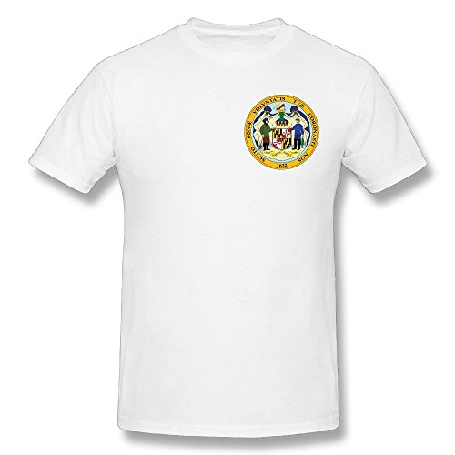 - Men's Seal Of Maryland Funny Graphic Tee Mens Cotton T-Shirt White 6XL T-shirt