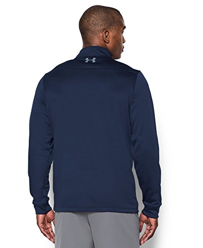 Under Armour Men's Storm Armour Fleece 1/4 Zip, Midnight Navy (410)/Steel, Small by Under Armour (Image #2)