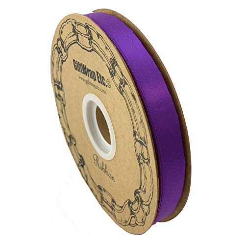 Purple Rose Awareness Ribbon - Purple Satin Fabric Easter Ribbon - 5/8